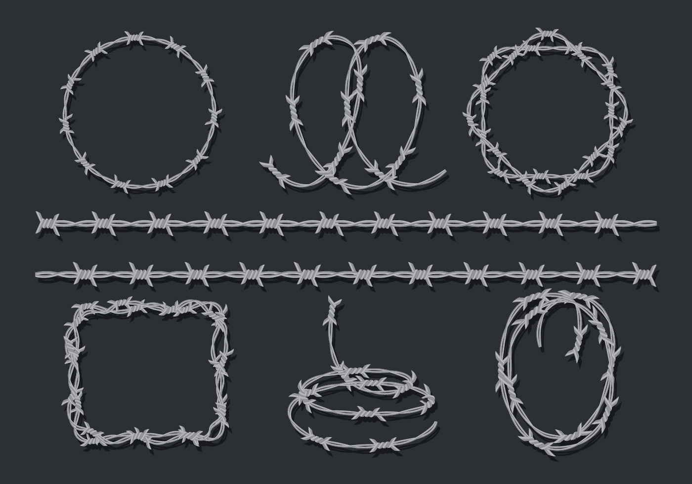 Razor Wire Icons Set Download Free Vector Art Stock