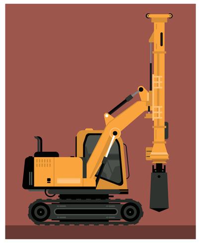 vector de máquina de taladro pesado
