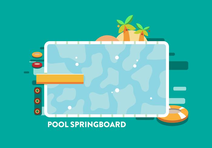 Pool Springboard Vector