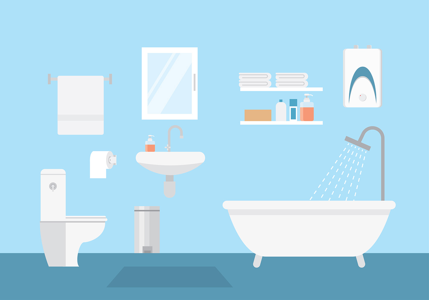 Bathroom Layout Vector Download Free Vector Art Stock Graphics Images