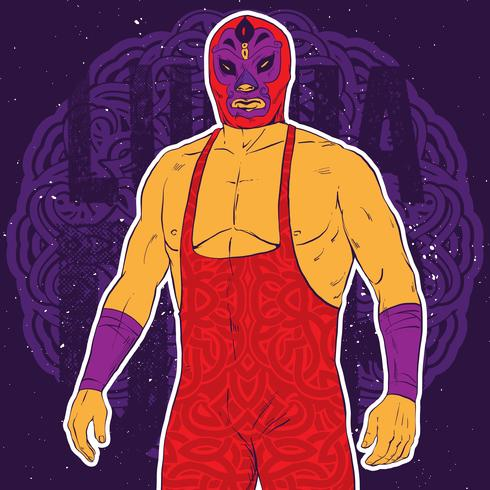 Luchador Pose Illustration