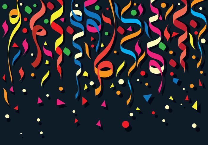 Fundo de confetes colorido vetor