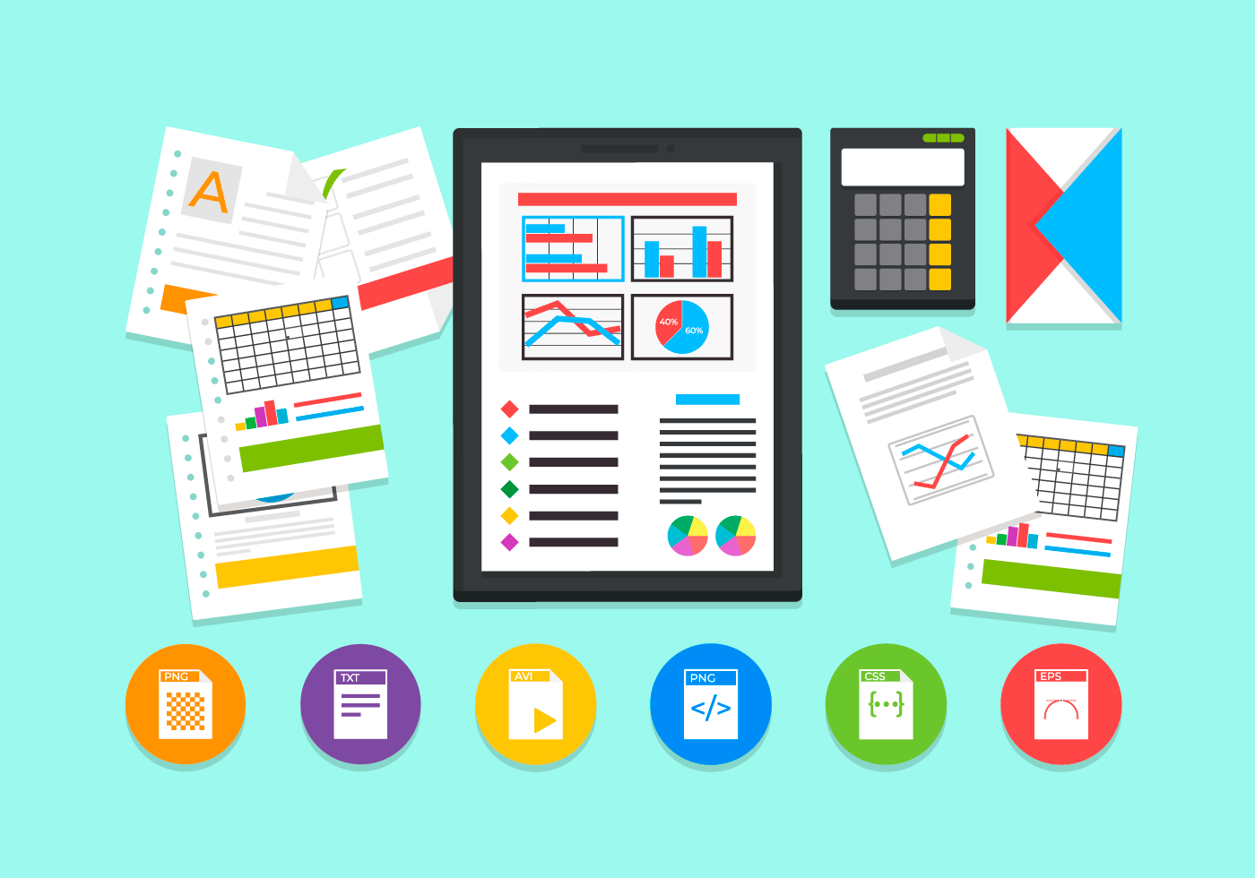 spreadsheet free vector illustration