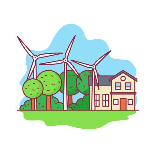 Windmolen energie, natuurlijke hulpbronnen