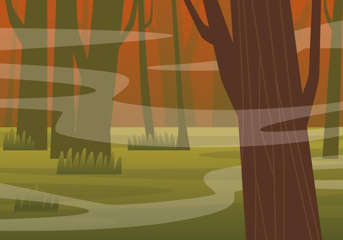 Spöklik Bayou Illustration