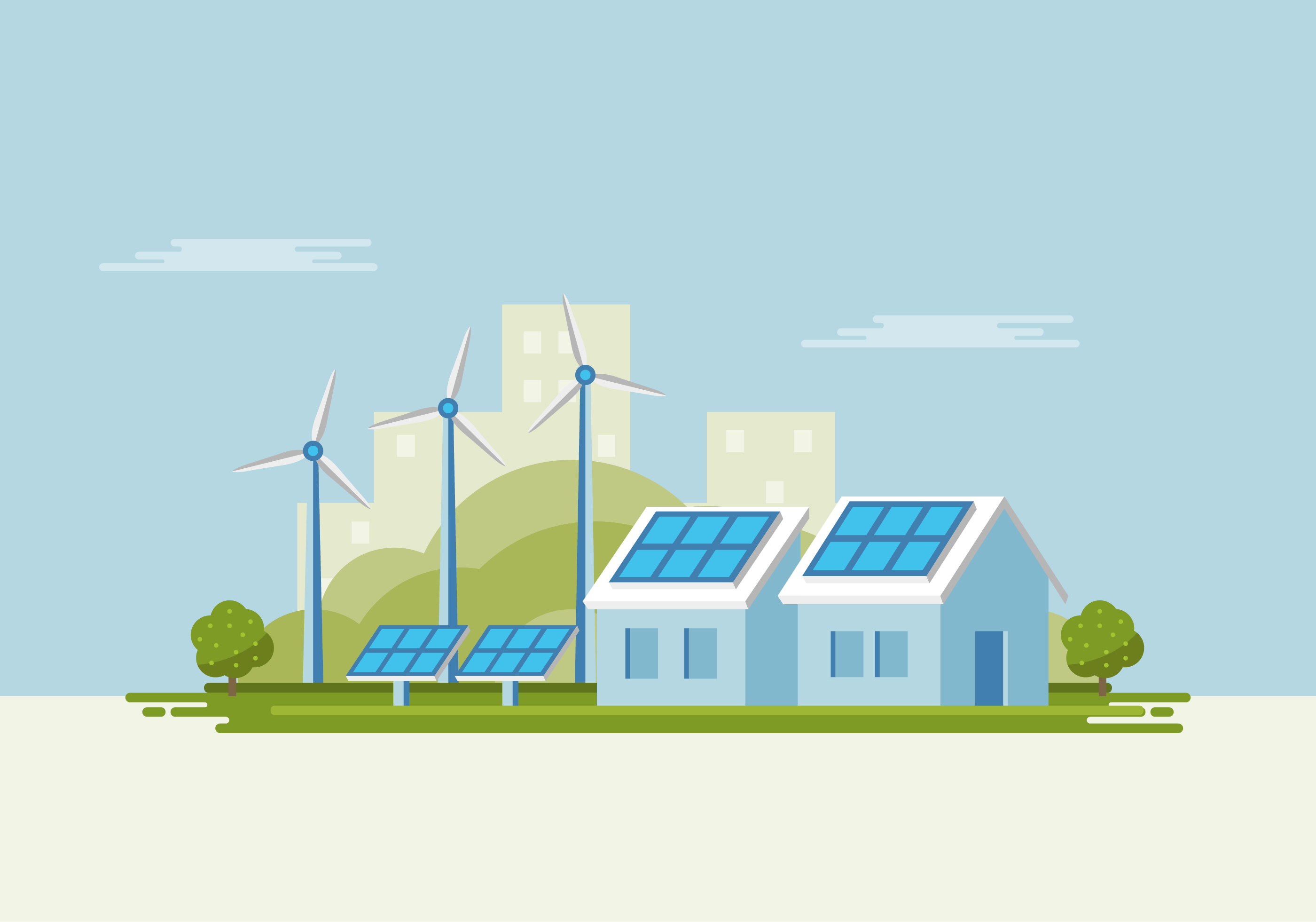 Solar Panel And Windmill Download Free Vector Art Stock