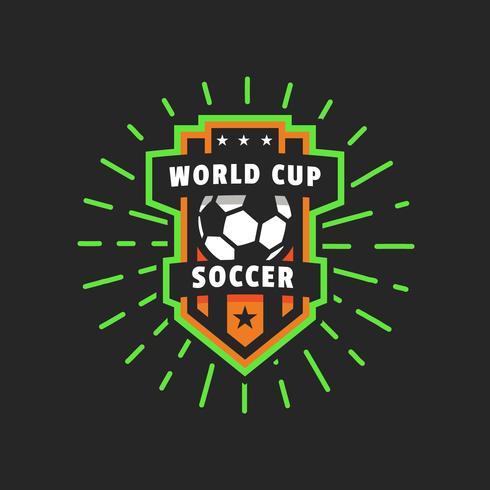 World Cup-Vektor-Logo-Abzeichen vektor