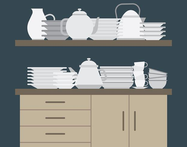 Crockery Illustration