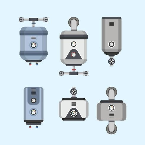 Water Heater Collectie Vector Illustratie