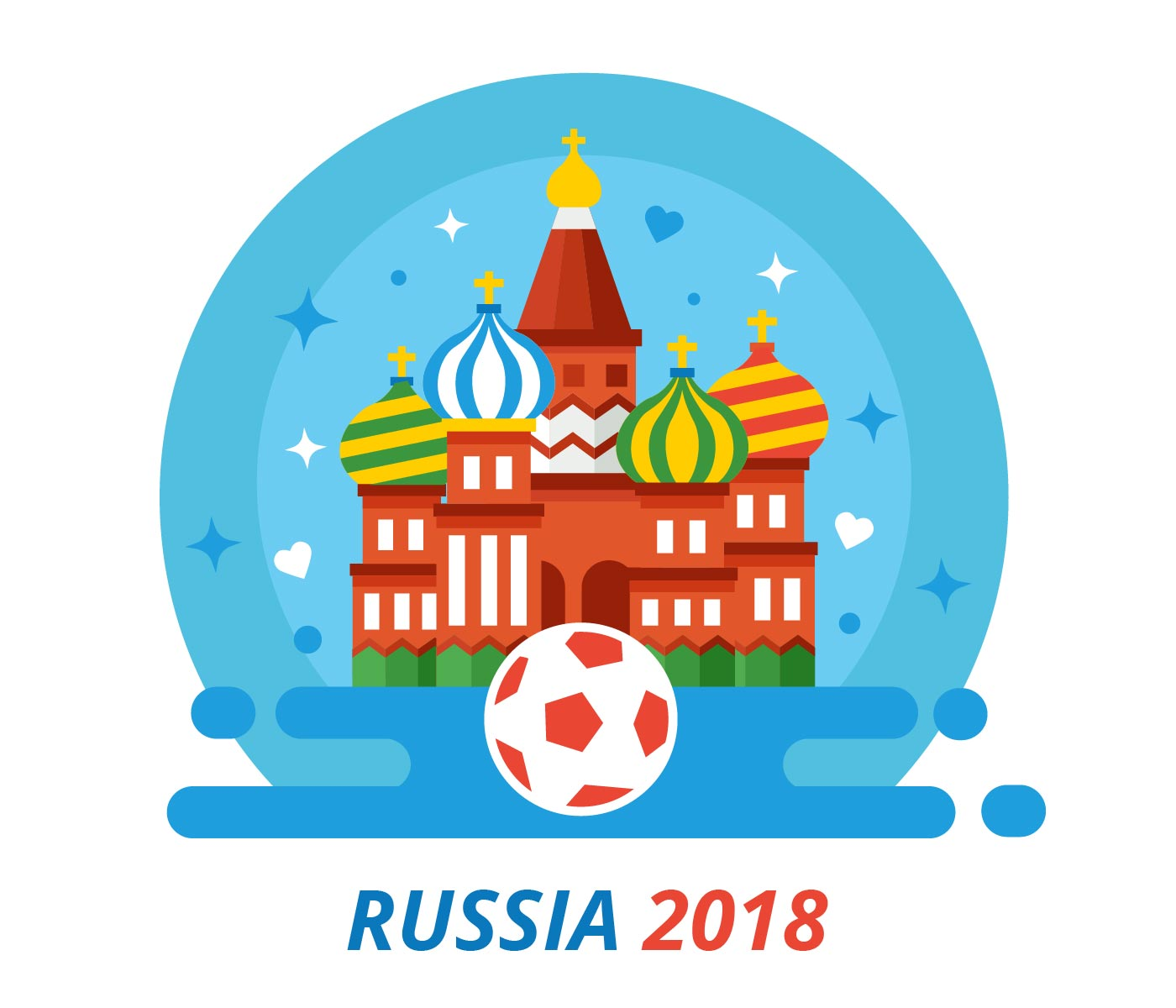 russia 2018 world cup vector download free vector art