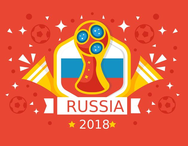 Free Red Background Russia World Cup 2018 Vector