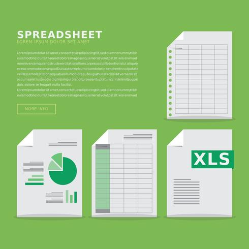 Spreadsheet Window Icon with Laptop and Diagram Template