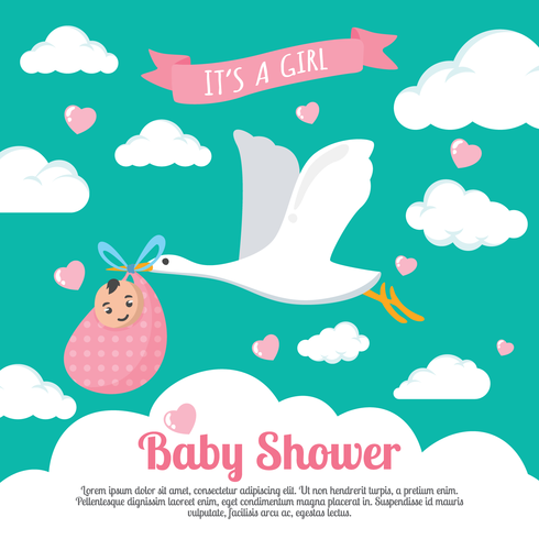 babyshower vektor illustration