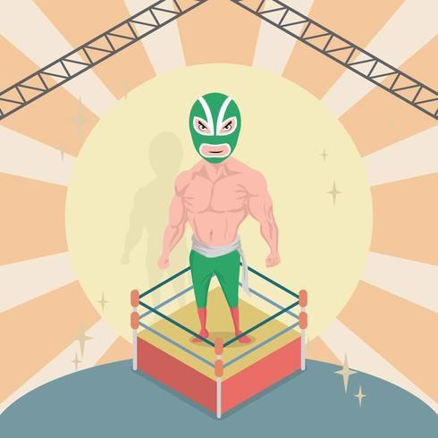 Free Mexican Wrestler Illustration
