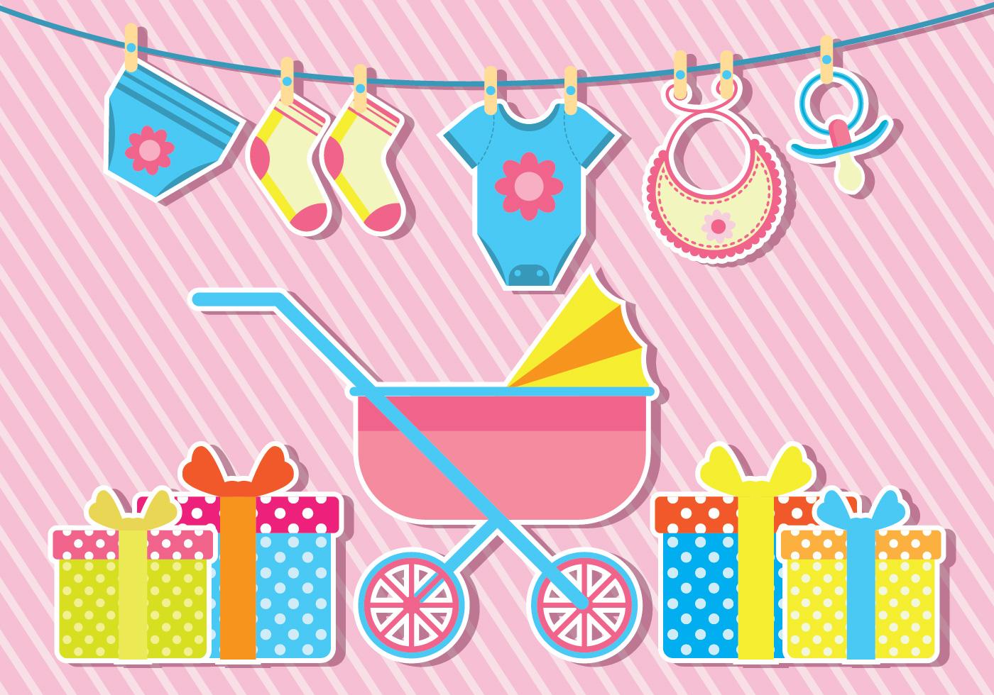 Babyshower Vector Illustration - Download Free Vectors ...