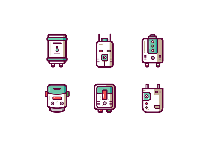 Futuristic Water Heater Vector