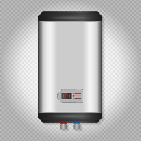 Electric Water Heater Vector Illustration