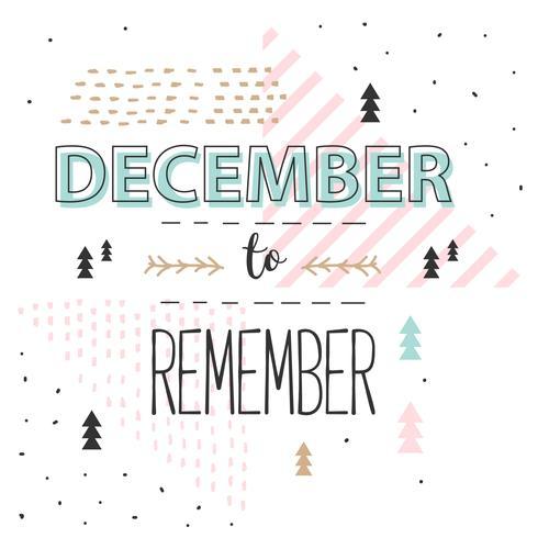 December om Vector te onthouden