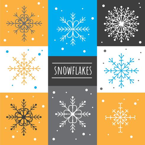Snöflingor Vector Set