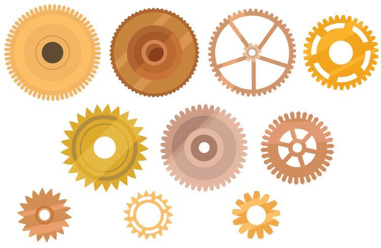 Uhr Teile Vektoren