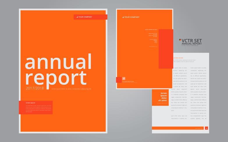annual report elegant geometric flat design template download free
