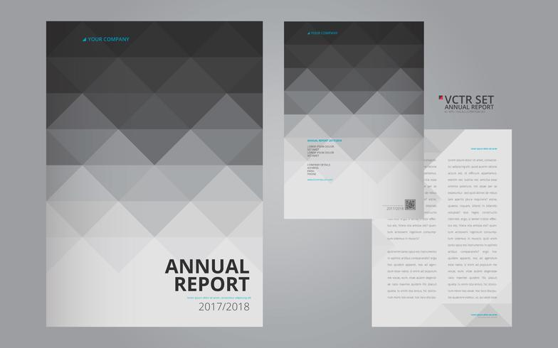 Årlig rapport Elegant geometrisk plattformsmall