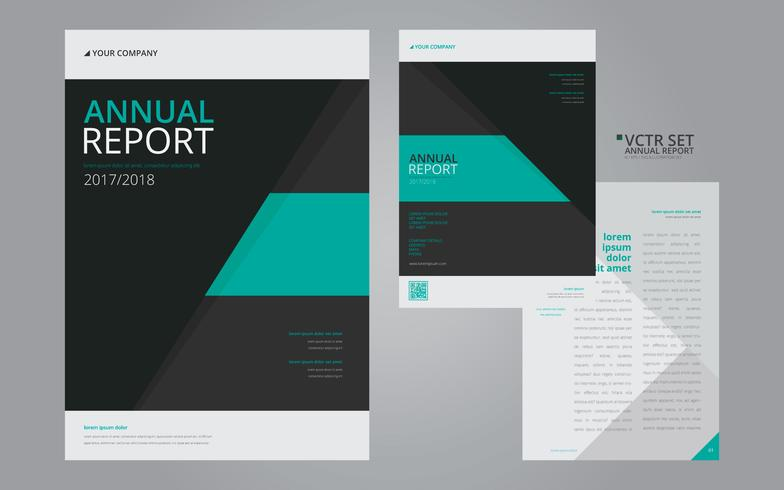 Annual Report Elegant Geometric Flat Design Template  Download Free