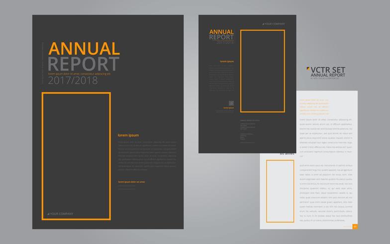Jaarlijkse rapport elegante geometrische platte ontwerpsjabloon