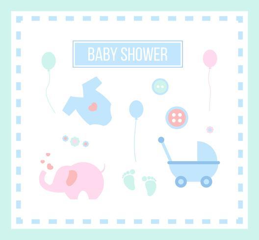 Iconische Babyshower-vectoren