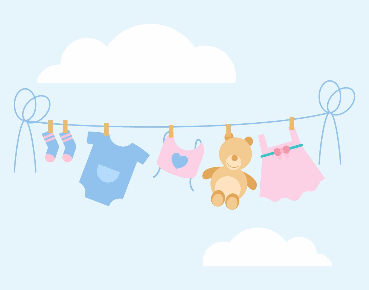 Free Baby Shower Vector Images ~ Iconic babyshower vectors download free vector art