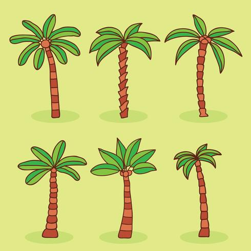 Palm Tree Collection Vector