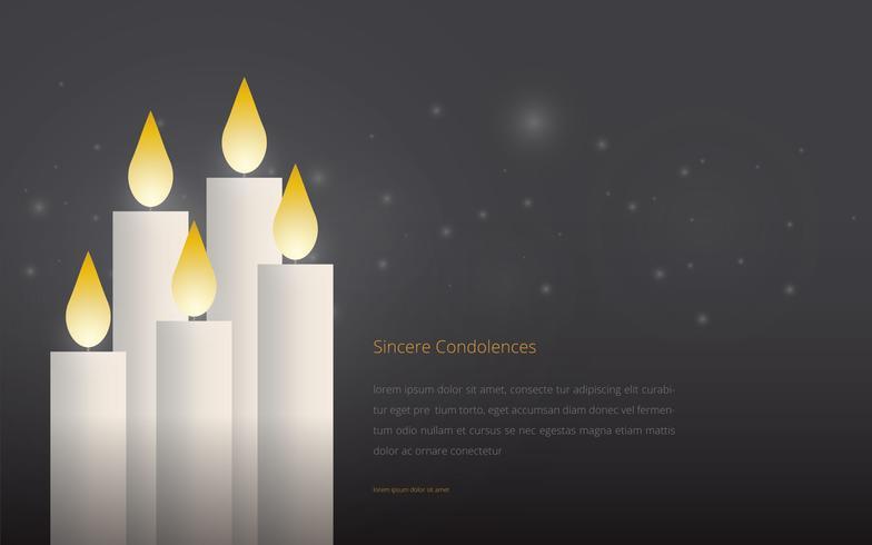 Condolences Editable Template Greetings Illustration