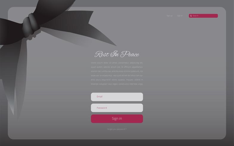Condolences Theme Editable Website Template Illustration