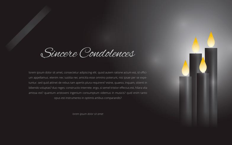 Condolences Editable Template Greetings Illustration