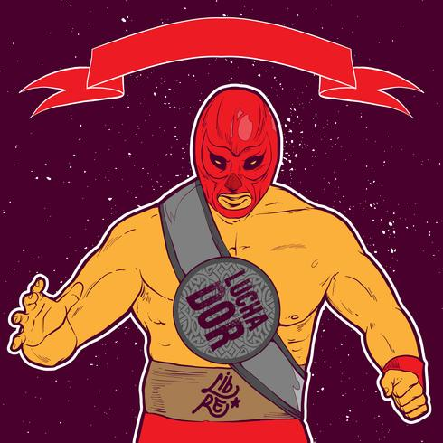 Luchador Pose Illustration - Download Free Vector Art, Stock Graphics & Images