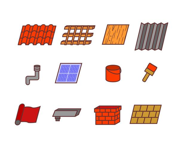 Roof Tile Related Icon vector