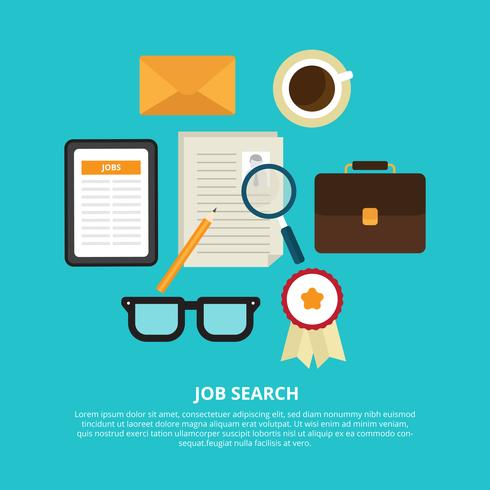 Job Search Vector Illustration