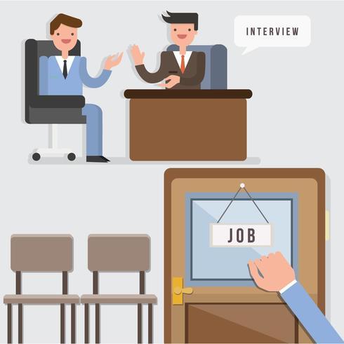 Vetor de ilustração da pesquisa de emprego