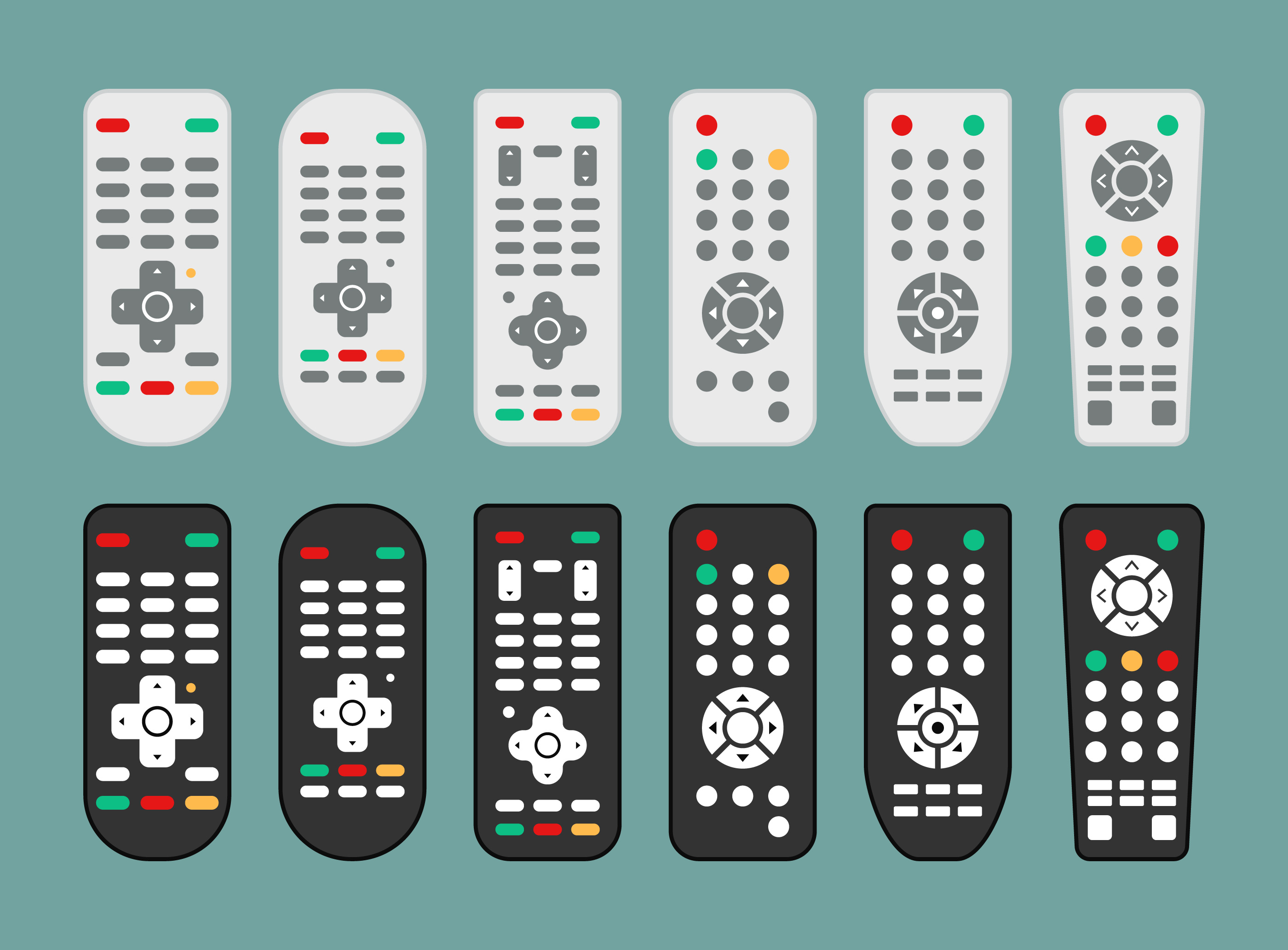 remote control or tv remote icons download free vector art stock