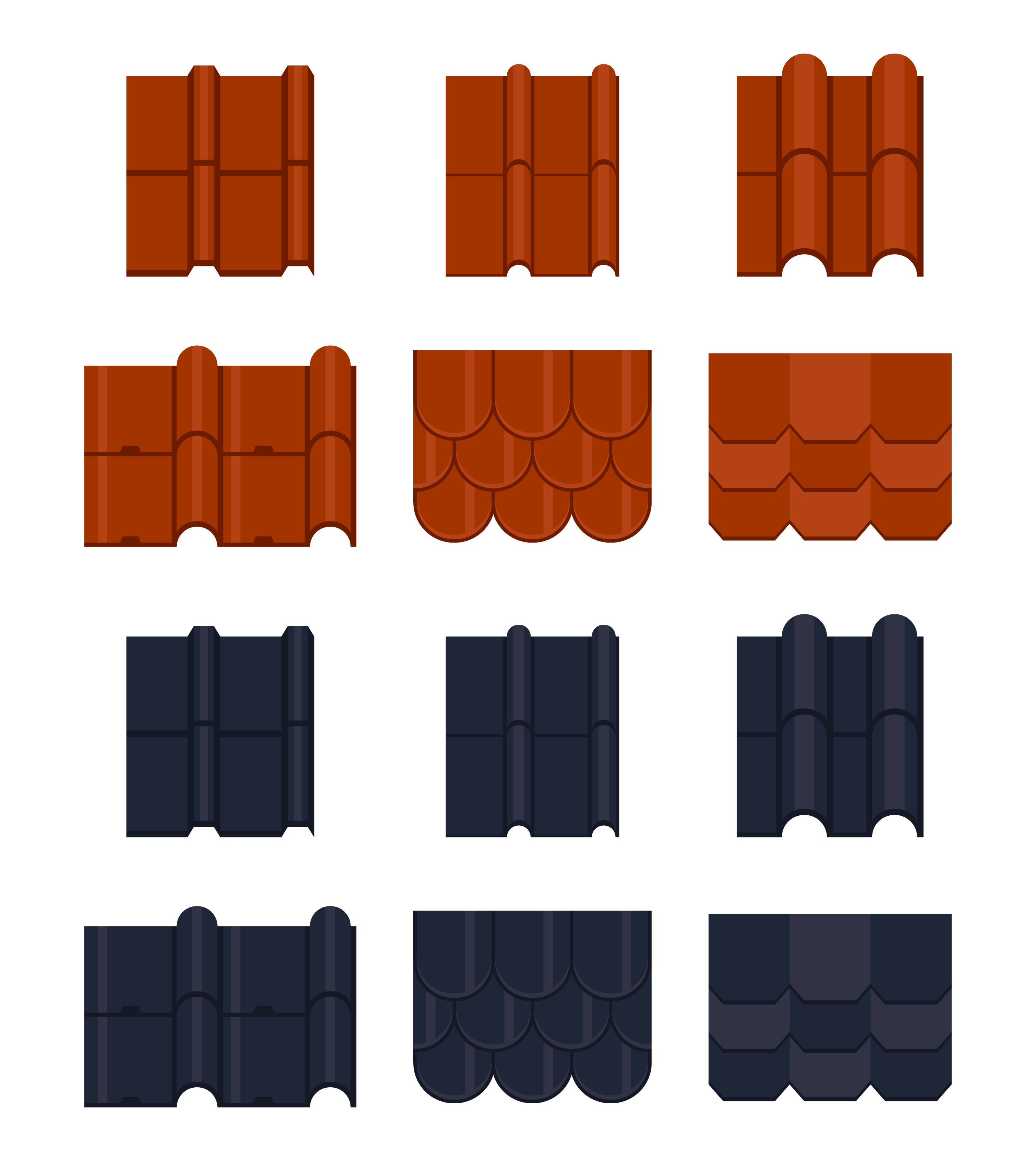 Roof Tile Vector Icons Download Free Vector Art Stock
