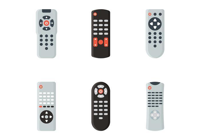 tv afstandsbediening vector set