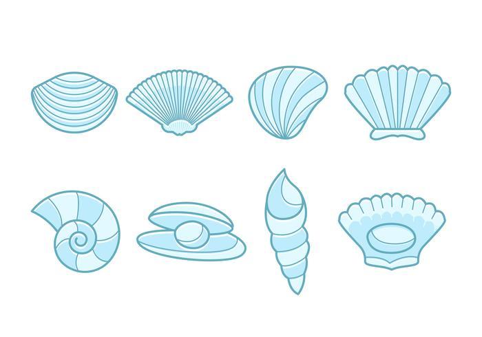 Gratis zee Sint-jakobsschelpen Vector-collectie