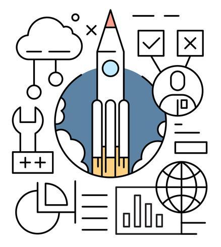 Gratis startup vectorillustratie