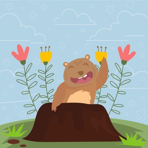 Cartão feliz do dia de Gopher
