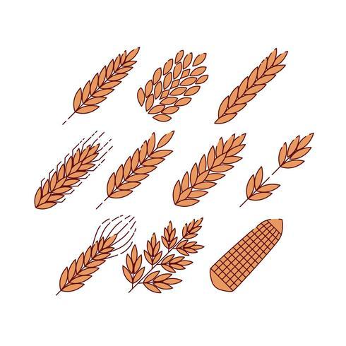 Gratis granen planten pictogram Vector