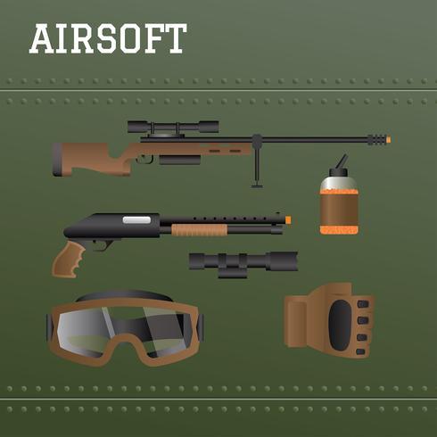 Airsofts  Free Vector