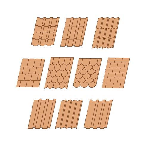 Vector de colección de azulejo de techo gratis