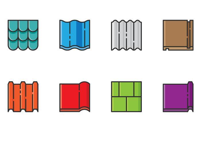 Dak materiaal pictogram