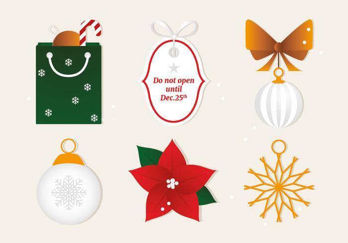 Elementos de Vector de Navidad plana gratis