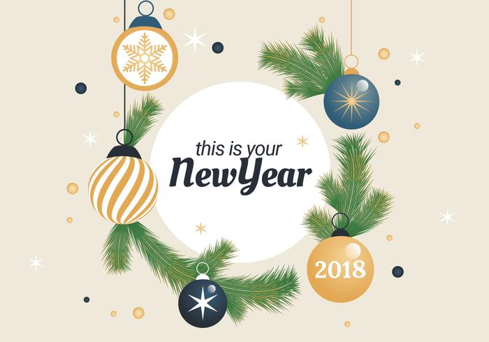 Free Happy New Year Background Elements